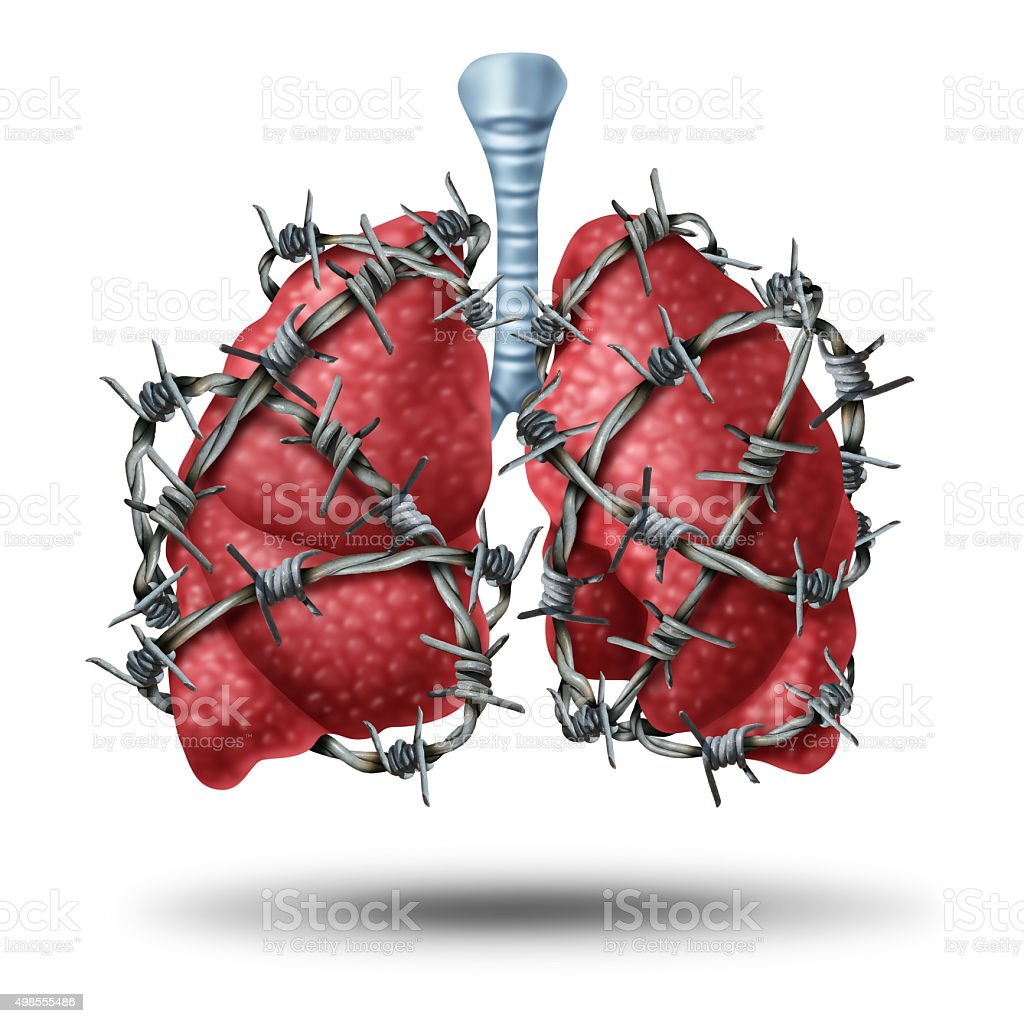 Lung Pain stock photo