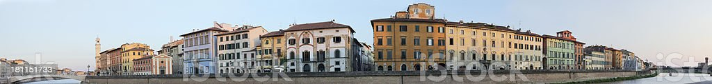 Lungarno Mediceo, Pisa royalty-free stock photo