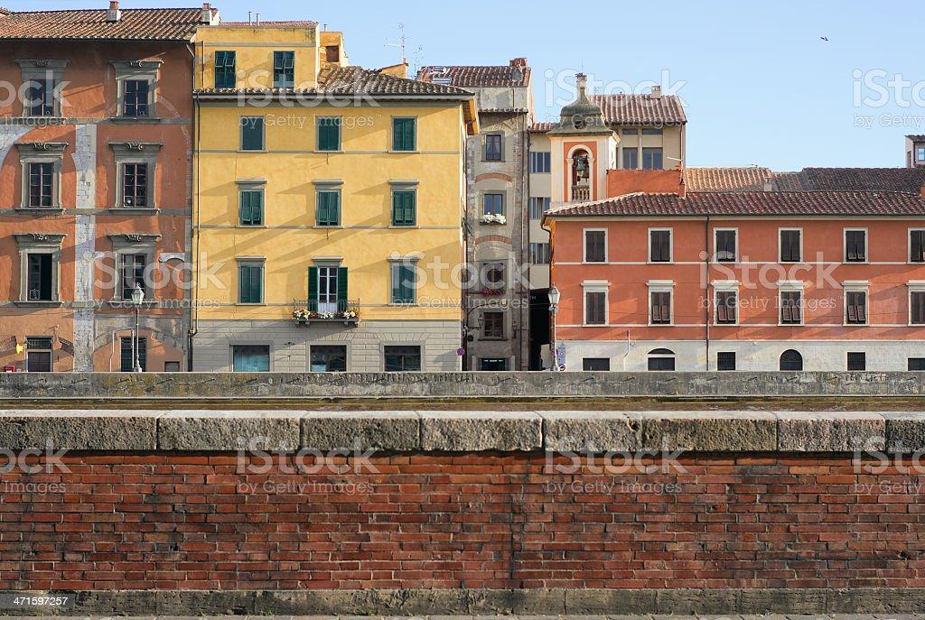 Lungarno, Pisa royalty-free stock photo