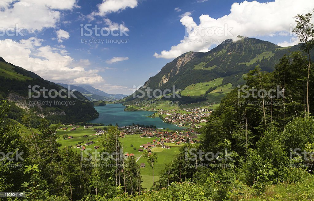 Lungern & Lungerersee stock photo