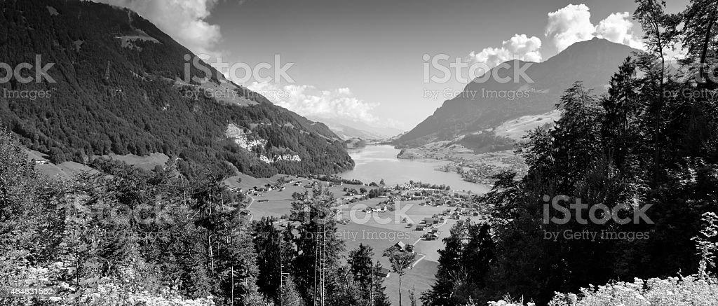 Lungern village in Switzerland - stock photo