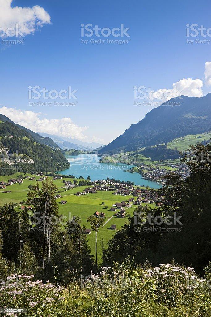 Lungern village in Switzerland stock photo