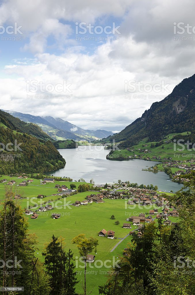 Lungerner See - Lake Lungern Switzerland stock photo