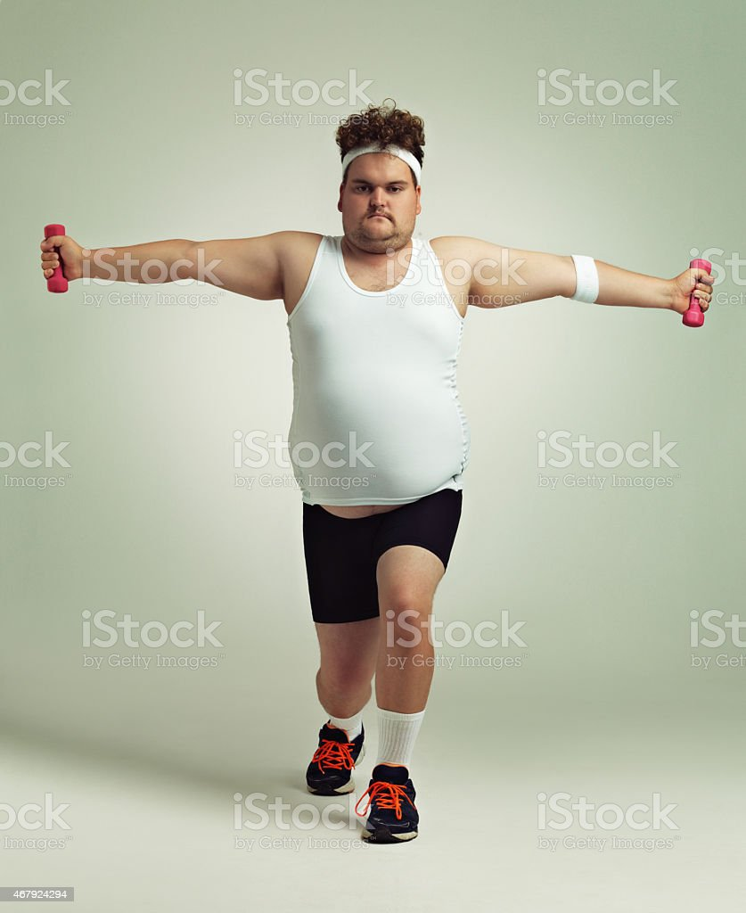 Lunges and more lunges stock photo
