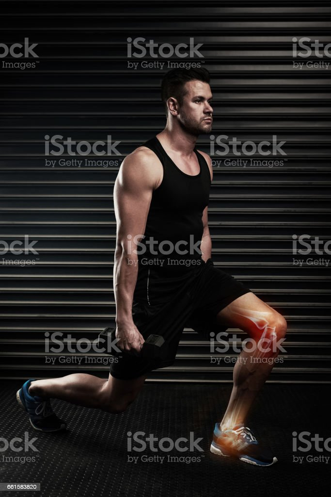 Lunges can put strain on your knees stock photo