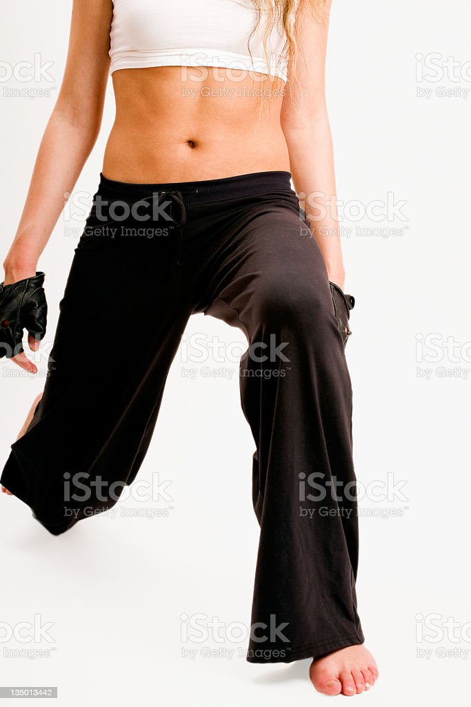Lunging royalty-free stock photo