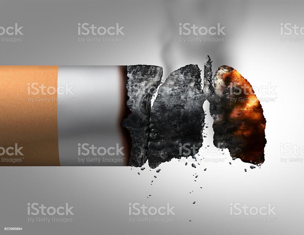 Lungs And Smoking stock photo