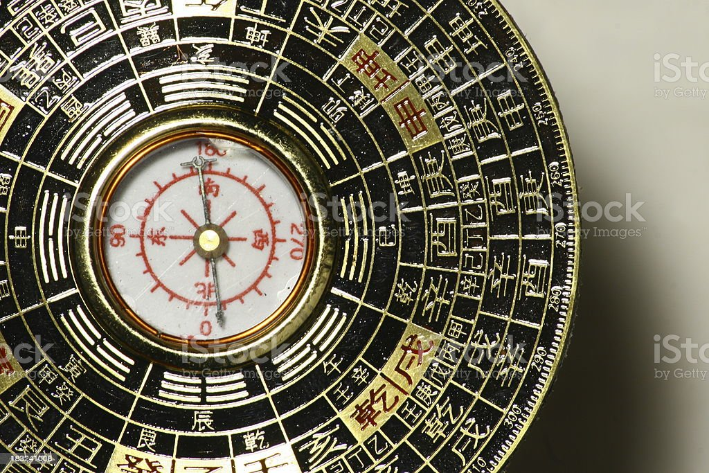 Luopan compass - detail stock photo