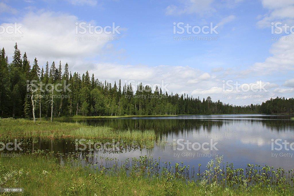 Luosto Lake royalty-free stock photo