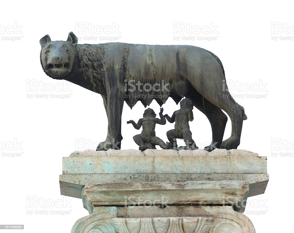 Lupa Capitolina - symbol of Rome city, Italy stock photo
