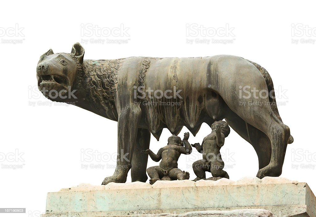 Lupa Capitolina - symbol of Rome city stock photo