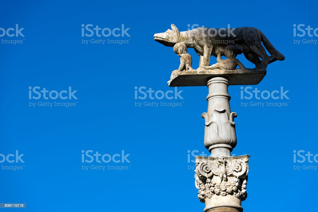 Lupa Senese - Symbol of Siena Italy stock photo