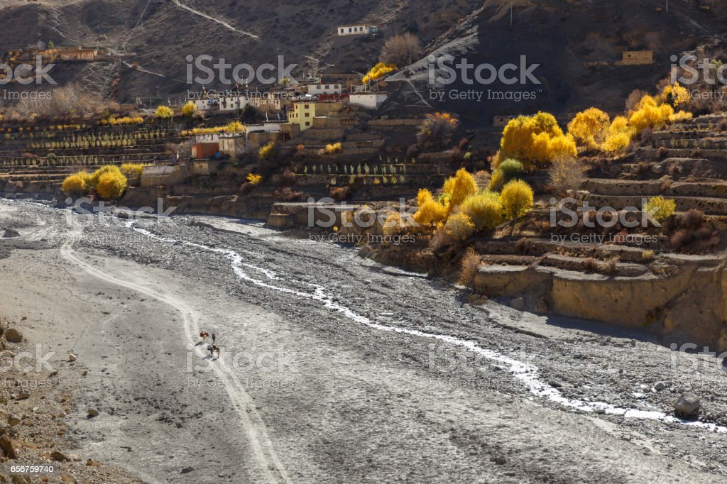 Lupra Village, Nepal stock photo