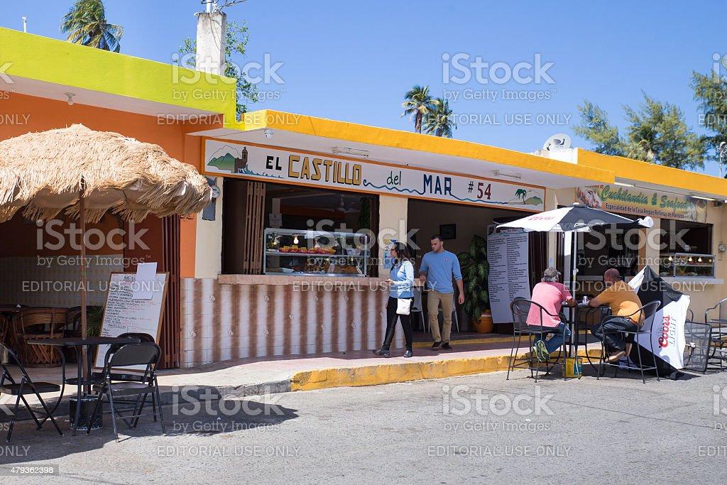 Luquillo Beach Puerto Rico Kiosks stock photo