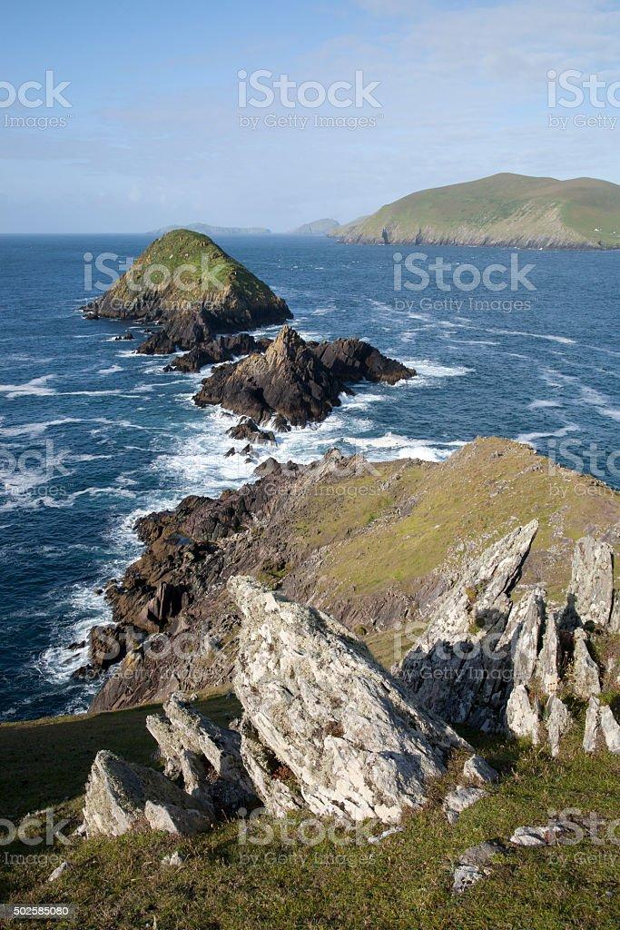 Lure and Blasket Islands, Dingle Peninsula stock photo