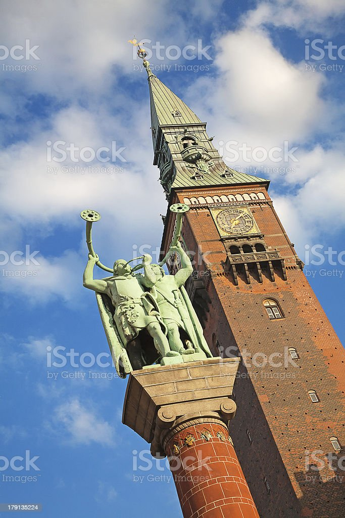 Lure Blowers statue royalty-free stock photo