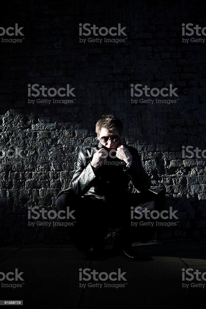 lurking stock photo