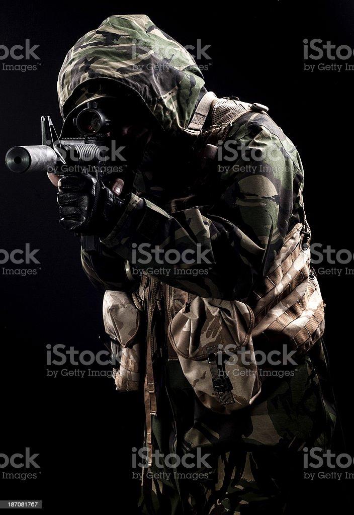 Lurking sniper royalty-free stock photo