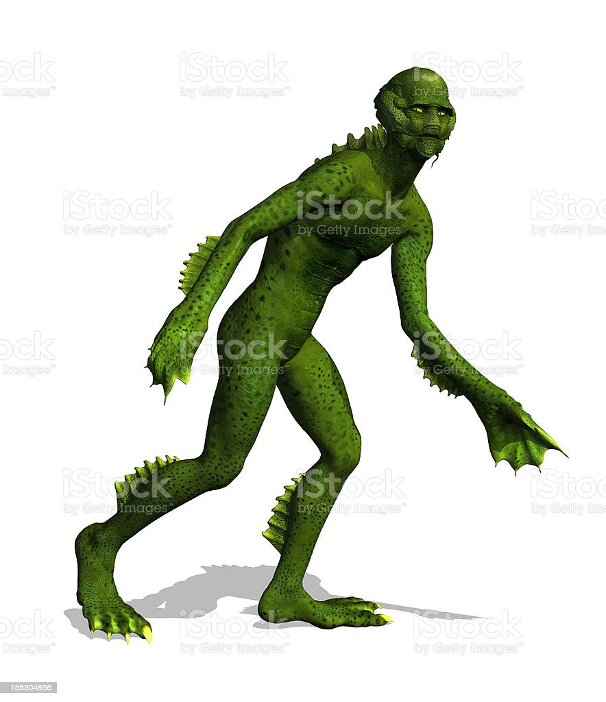 Lurking Swamp Creature stock photo