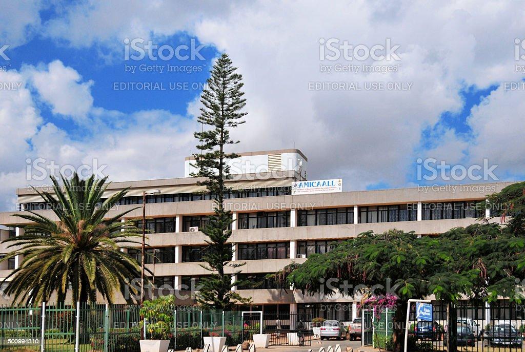 Lusaka City Hall,  Zambia stock photo