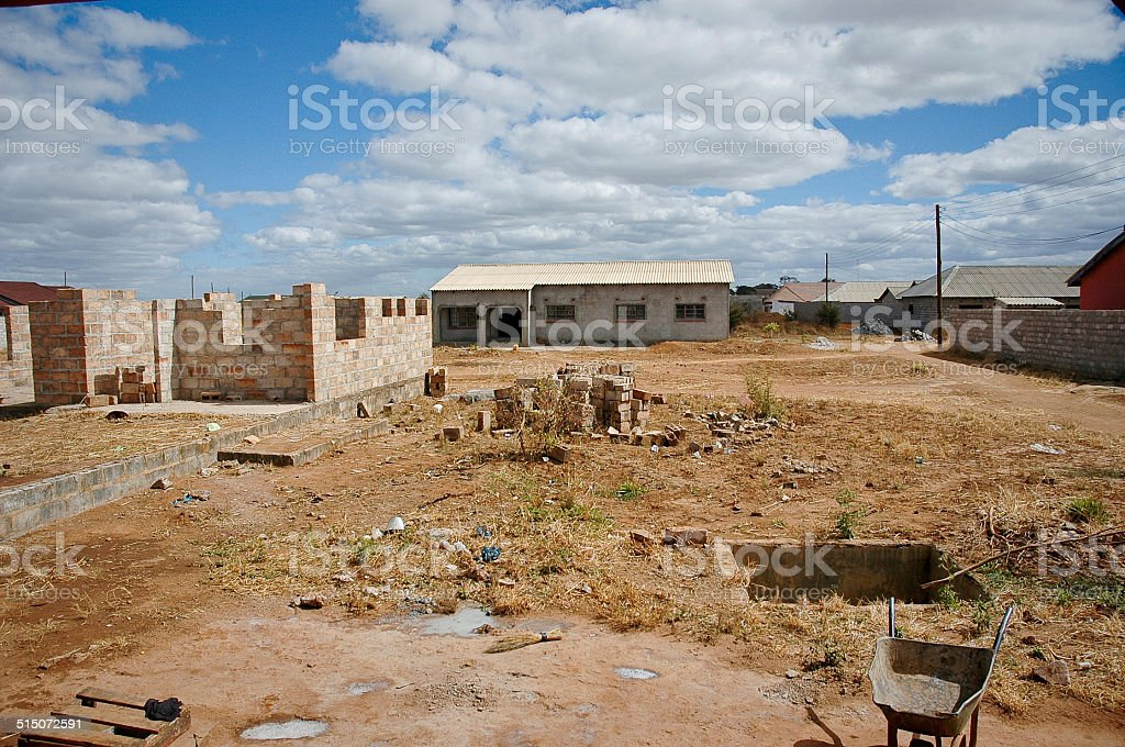 Lusaka Suburb Construction Zambia stock photo