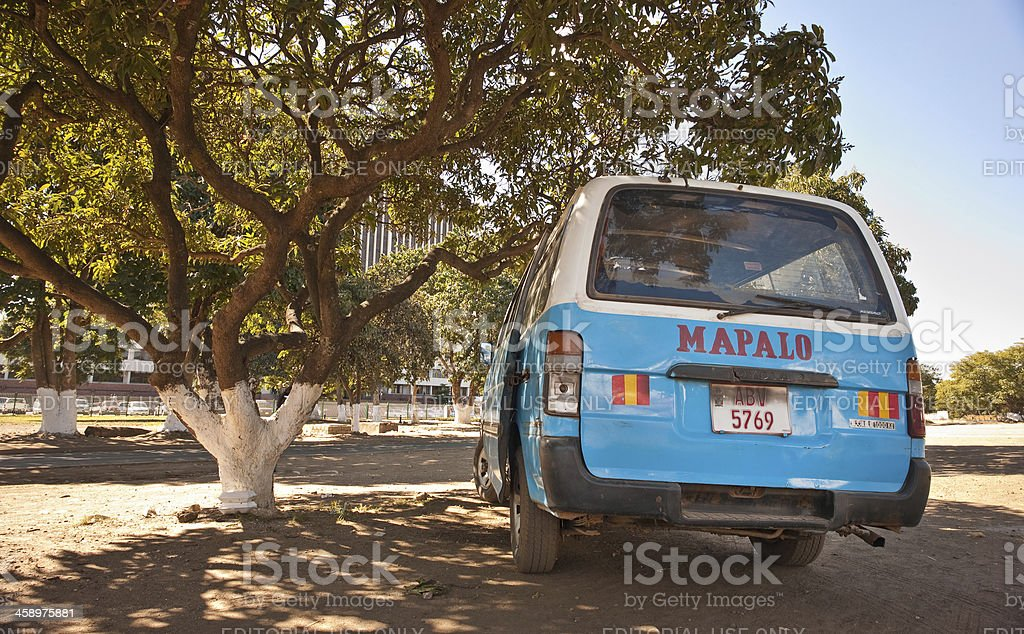 Lusaka Taxi stand stock photo