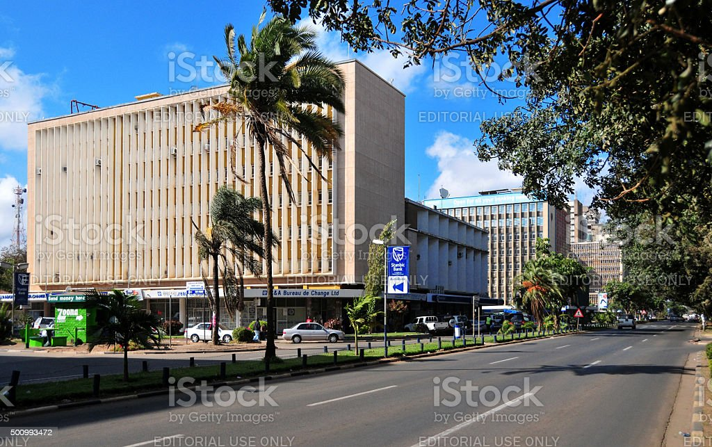 Lusaka, Zambia: Central business district stock photo