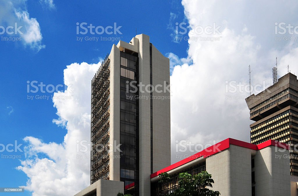 Lusaka, Zambia: city center skyscrapers stock photo