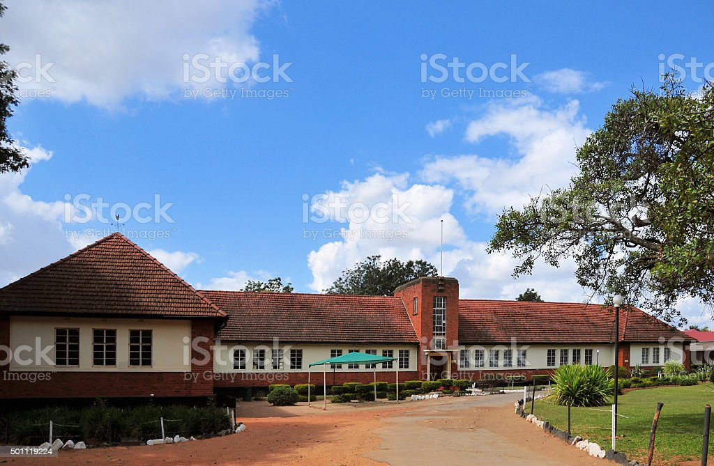 Lusaka, Zambia: colonial period school building stock photo