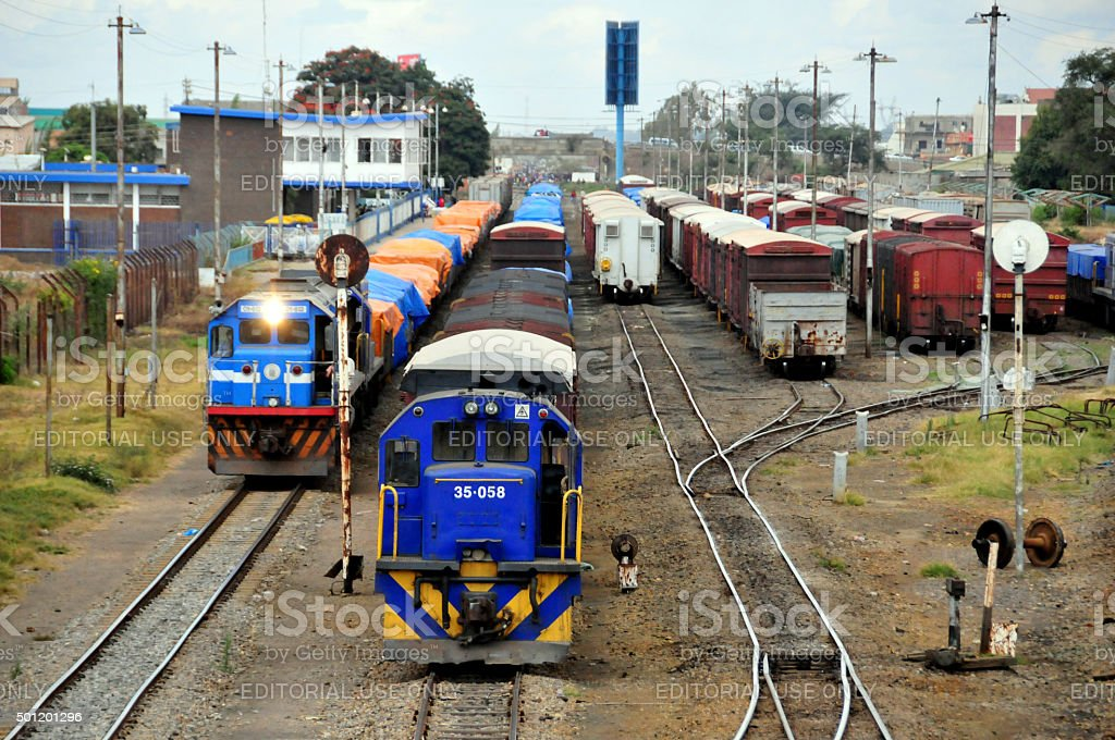 Lusaka, Zambia: trains - railway lines stock photo