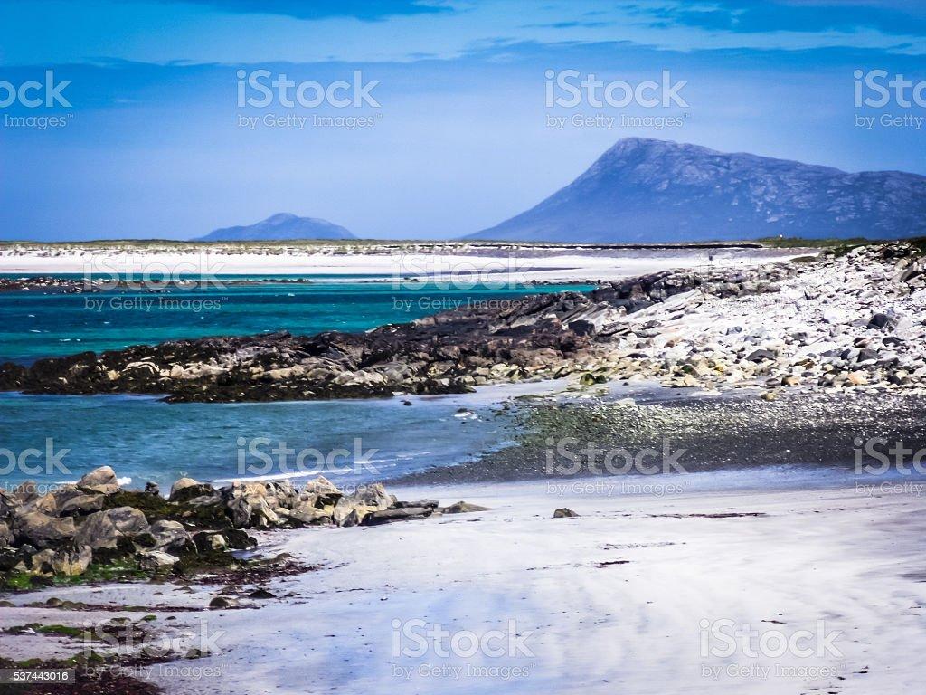 Luskentyre Beach, Atlantic Ocean Coastline, Harris, Scotland, stock photo
