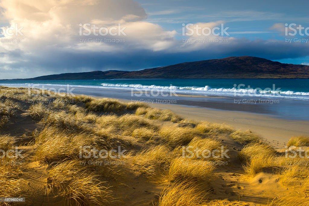 Luskentyre Beach, Isle of Harris, Scotland stock photo