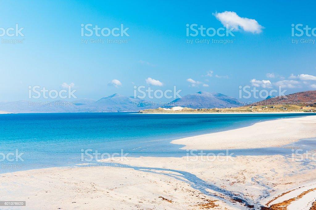 Luskentyre beach, Lewis and Harris, Scotland stock photo