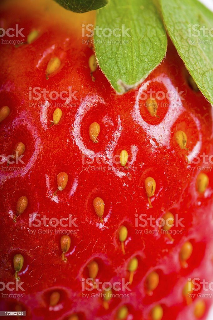 Luster Skin of Red Strawberry stock photo