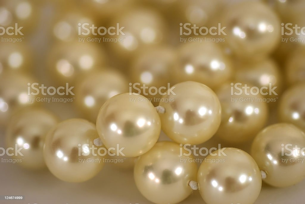 Lustrous pearls royalty-free stock photo