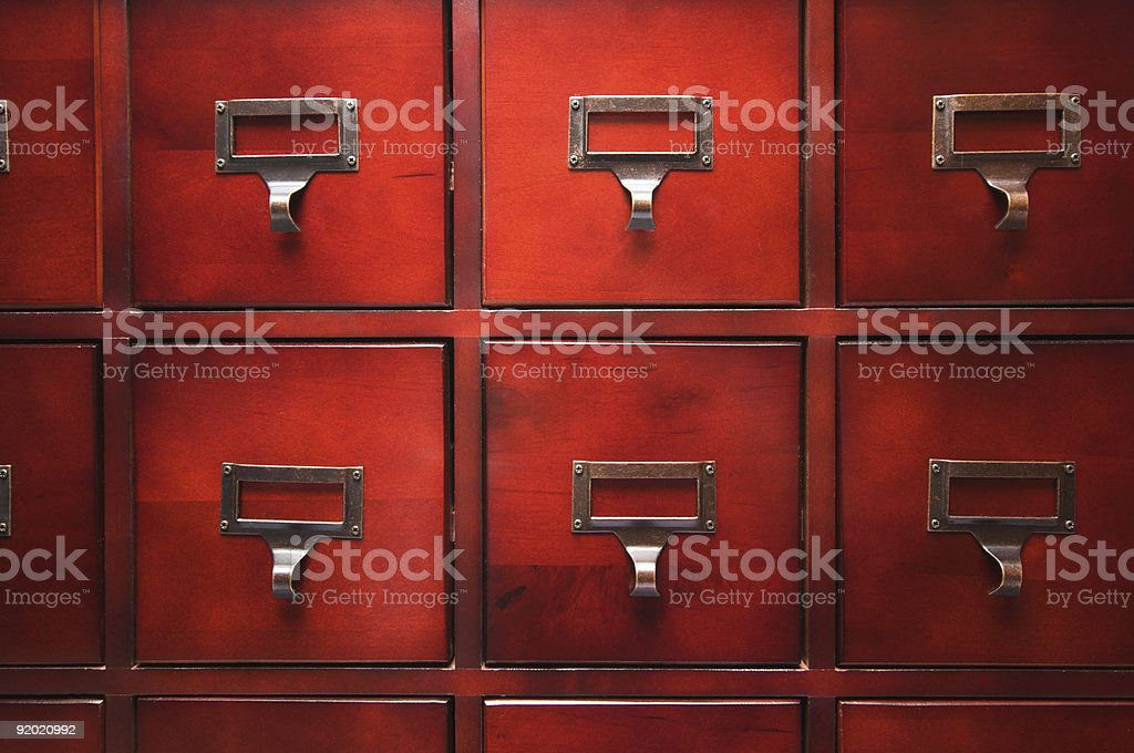 Lustrous Wooden Filing Cabinet royalty-free stock photo