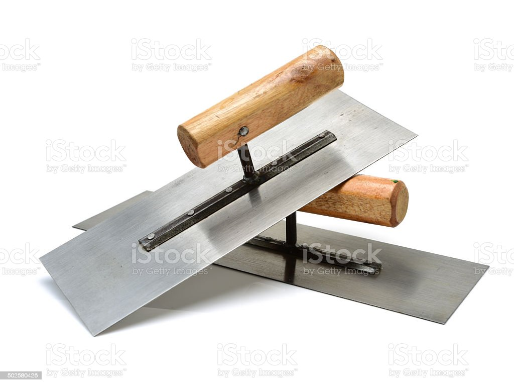lute trowel stock photo