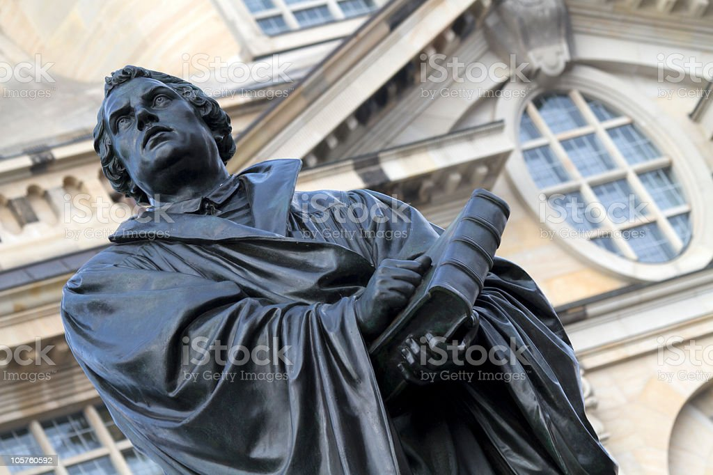 Luther in Dresden stock photo