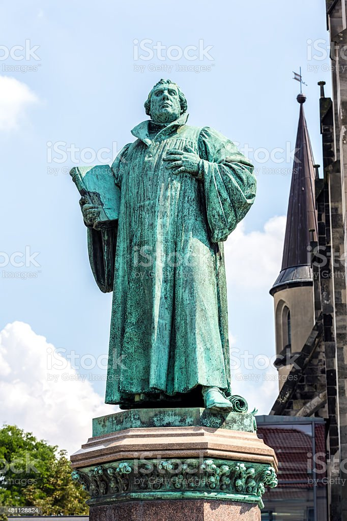 Luther in Magdeburg stock photo