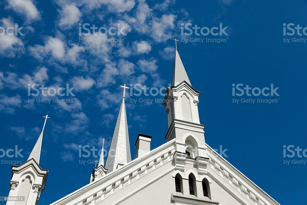 Lutheran Church, Grodno stock photo