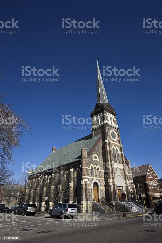 Lutheran Church in Chicago stock photo