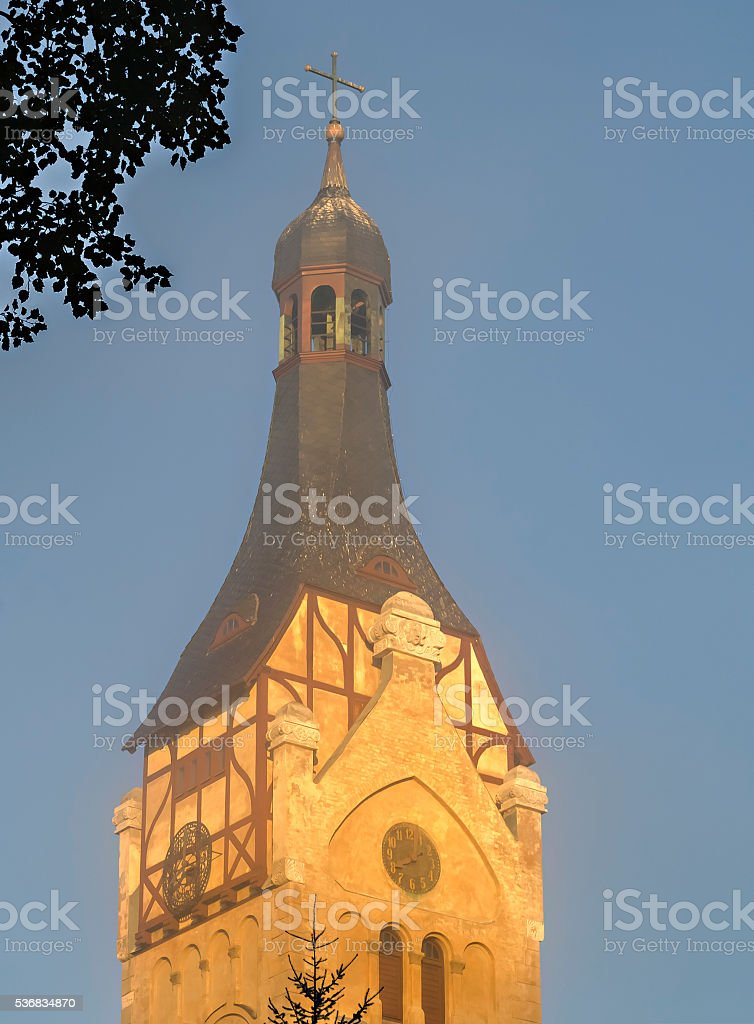 Lutheran church in Dubulti, Jurmala, Latvia. stock photo
