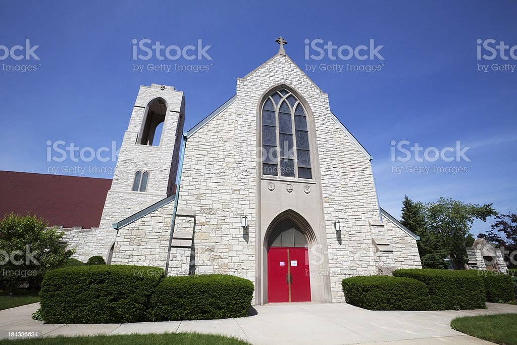 Lutheran Church in Forest Glen, Chicago stock photo