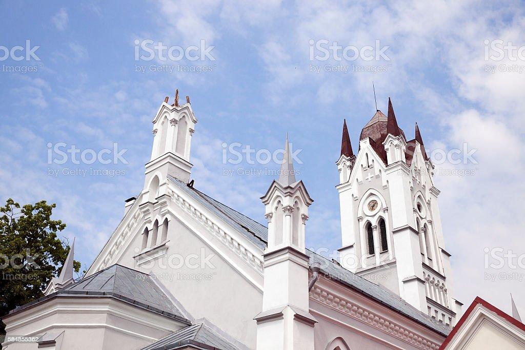 Lutheran Church in Grodno stock photo