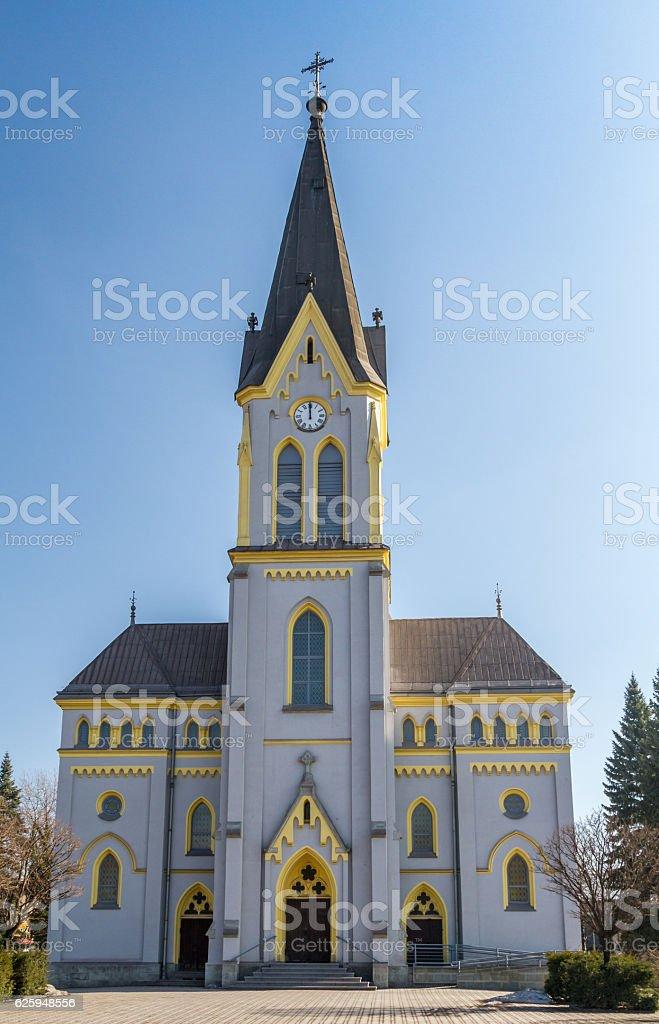 Lutheran Church in Trinec, Czech Republic stock photo