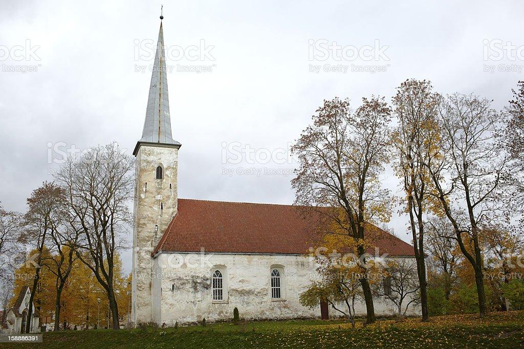 Lutheran church, Johvi, Estonia. stock photo