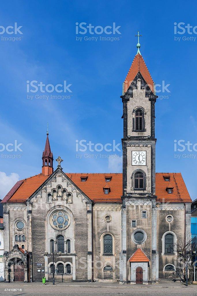 Lutheran Church of the Saviour in Tarnowskie Gory stock photo