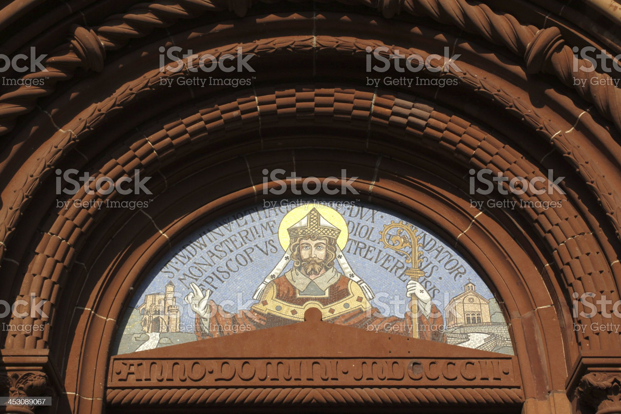 Lutwinus church in Mettlach royalty-free stock photo