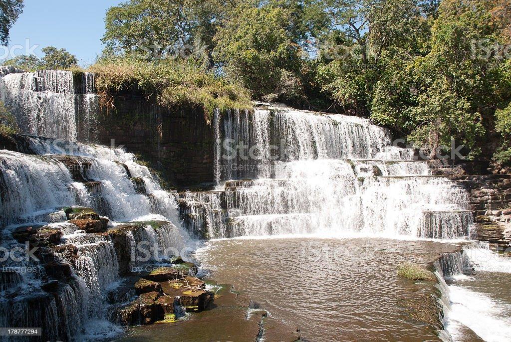Luvilombo Waterfalls Kiubo Falls Lodge Katanga Democratic Republic of Congo stock photo