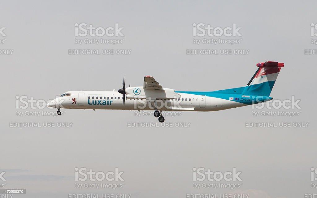 Luxair Bombardier Dash 8 stock photo